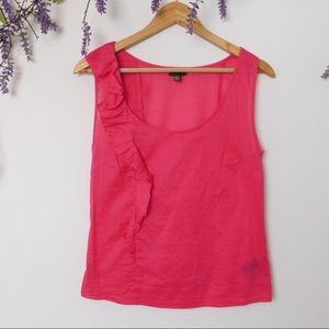Anthropologie Fei Pink One Shoulder Blouse